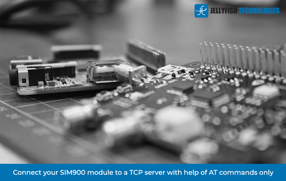 Connect your SIM900 module to a TCP server with help of AT commands only