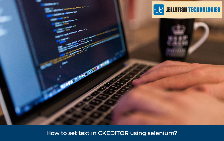 How to set text in CKEDITOR using selenium?