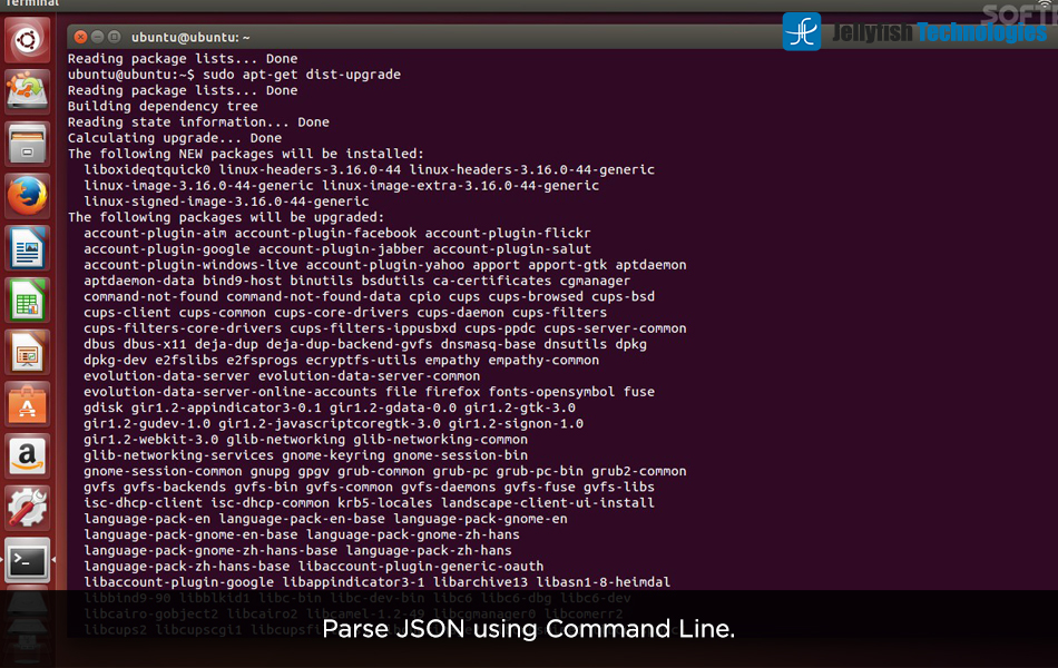 Parse JSON using Command Line.