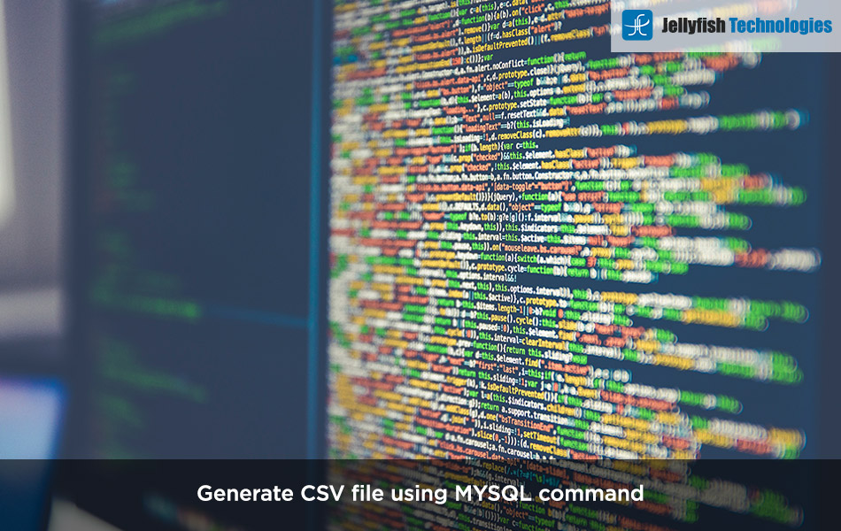 Generate CSV file using MYSQL command