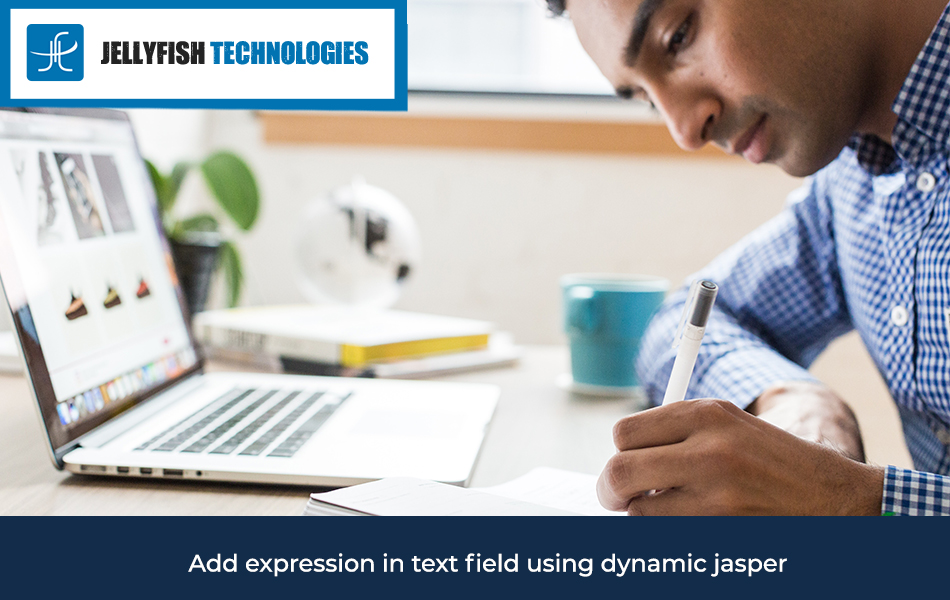 Add expression in text field using dynamic jasper