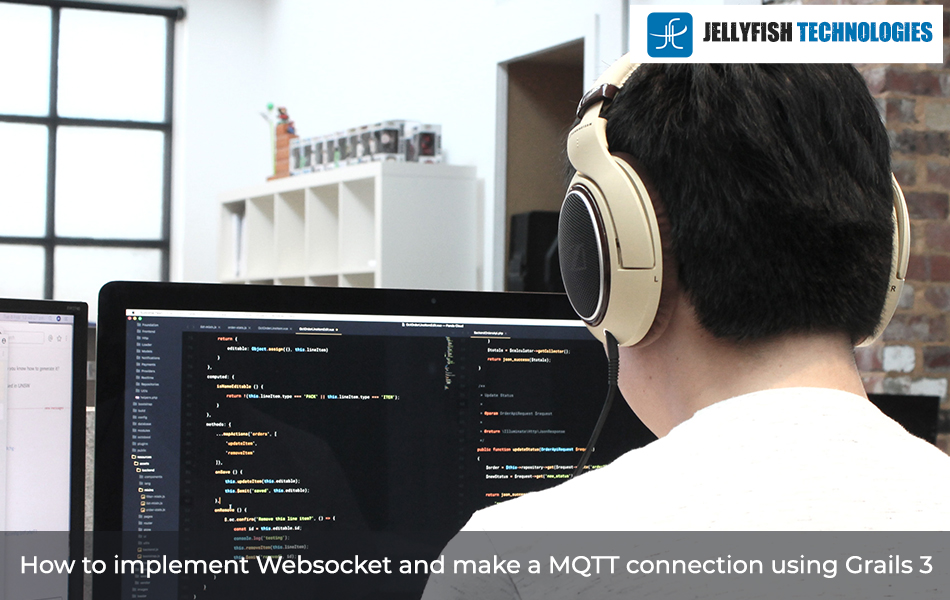 How to implement Websocket and make a MQTT connection using Grails 3