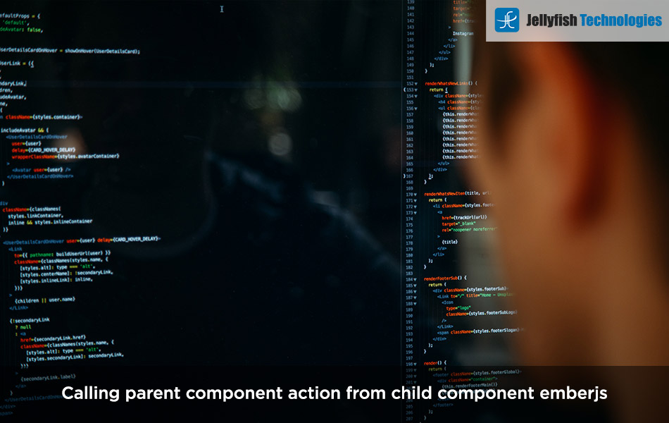 Calling parent component action from child component emberjs