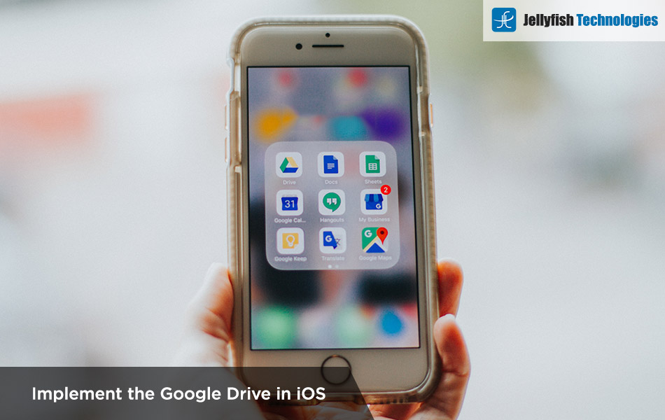 Implement the Google Drive in iOS