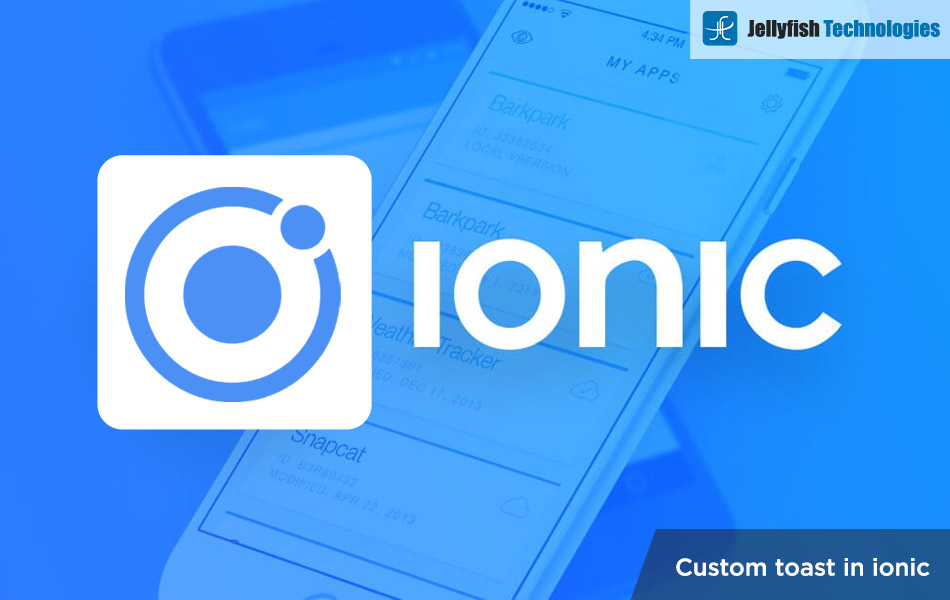 Custom toast in ionic